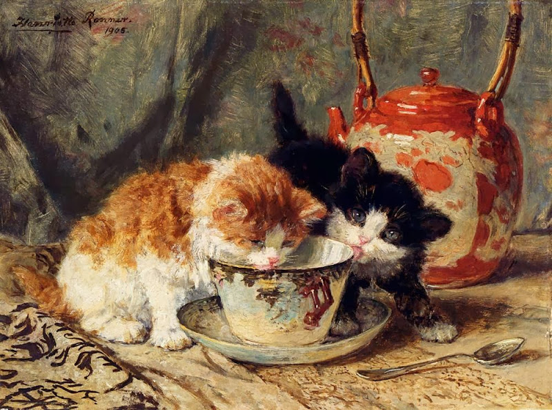 Henriette Ronner-Knip - Tea Time