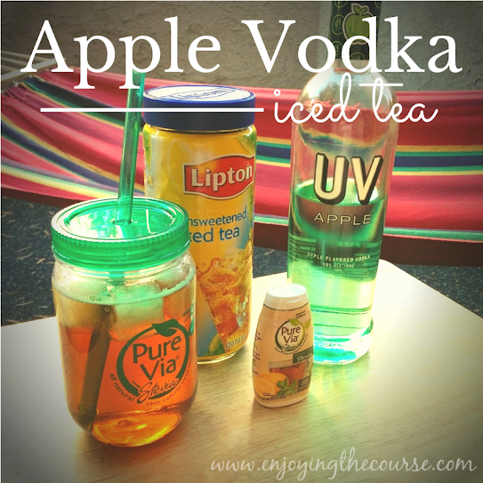 Apple Vodka Iced Tea | enjoyingthecourse.com