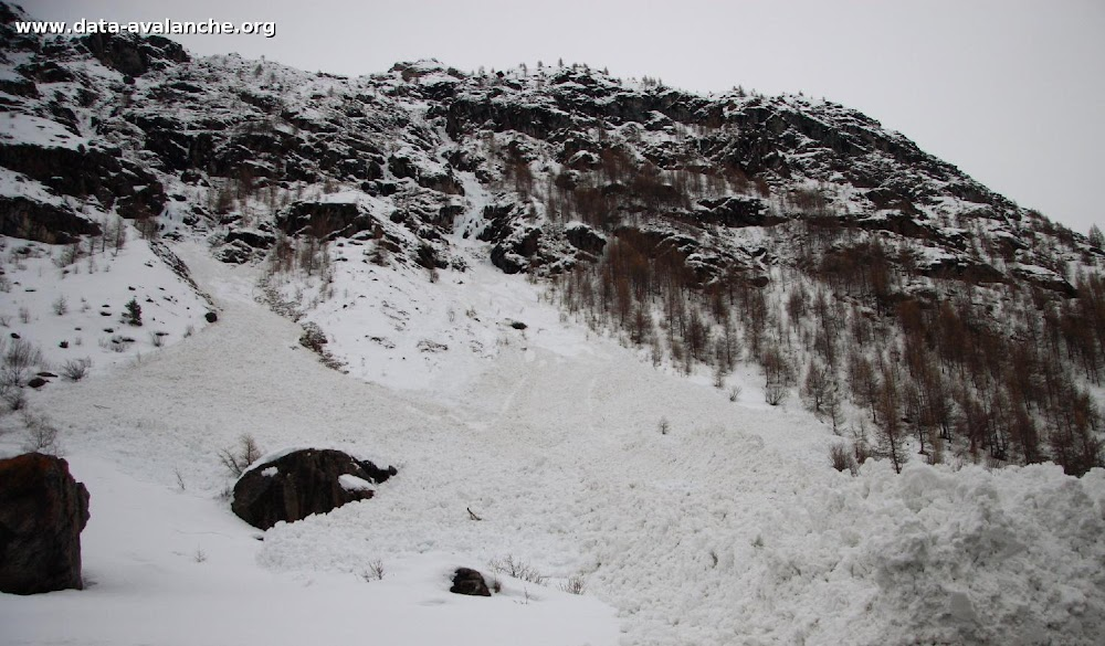 Avalanche Haute Maurienne, secteur Pointe d'Andagne, Rosse Zaille. RD 902 - Photo 1 - © Duclos Alain