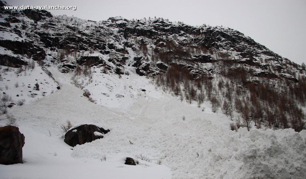 Avalanche Haute Maurienne, secteur Pointe d'Andagne, Rosse Zaille. RD 902 - Photo 1