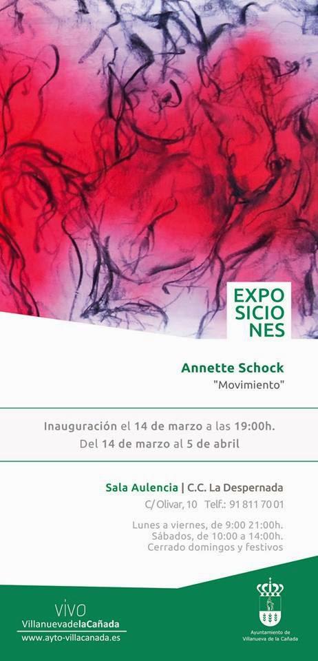 Movimiento, exposición individual de annette Schock,Villanueva de la Cañada