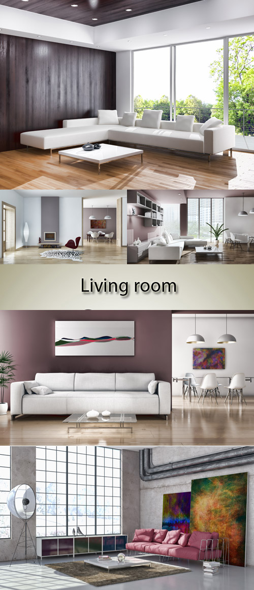 Stock Photo: Spacious living room
