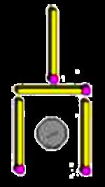 Desafio 6: Sem tocar na sujeira, mova apenas 2 palitos e remonte a pazinha sem que a sujeira fique no centro da dela.