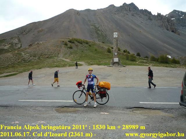 Györgyi Gábor & Francia Alpok kerékpártúra, Col d'IZoard