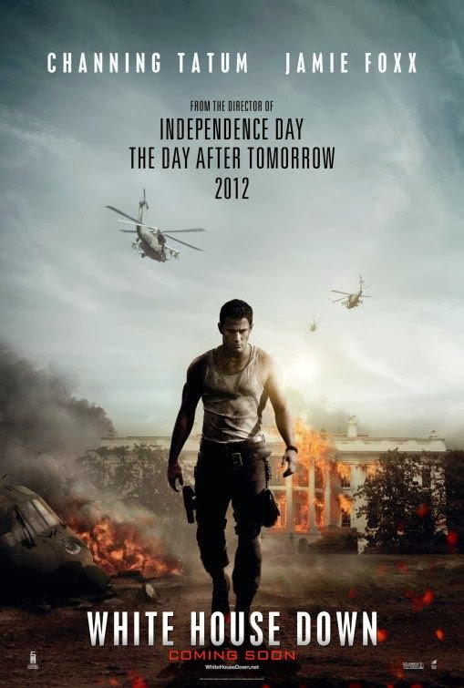 Poster Of White House Down (2013) Full Movie Hindi Dubbed Free Download Watch Online At Alldownloads4u.Com
