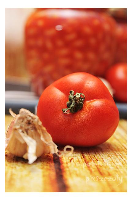 Fasola w sosie pomidorowym - na zimę