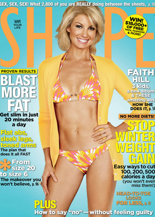 Faith Hill In A Bikini For Shape Magazine:celebrities,bikini girl0