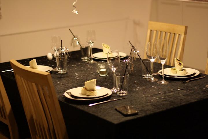 Nytårsaften 2012 - bordet