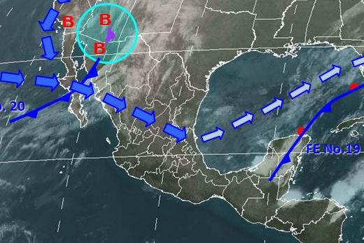 Condiciones meteorológicas para el lunes 7 de enero de 2013