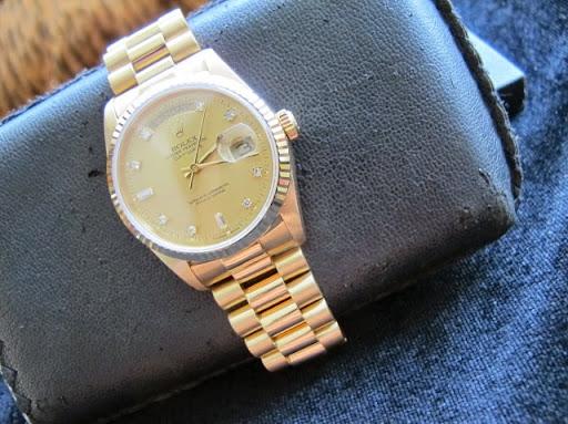 Bán đồng hồ rolex day date chính hãng – model 18238 – dây vỏ 18k – seri A sx 2000 – Size 36mm