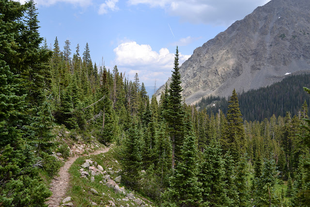 trail high on the side of the valley