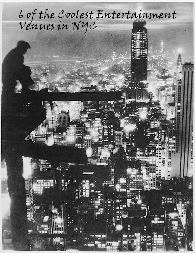 NYC at night. Photographic File of the Paris Bureau of the New York Times, 1935, adapted by Wandering Educators