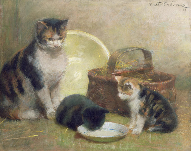 Walter Frederick Osborne - Cat and Kittens