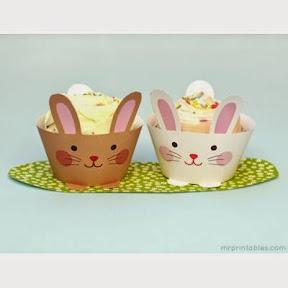 Contours à cupcake lapin gratuit
