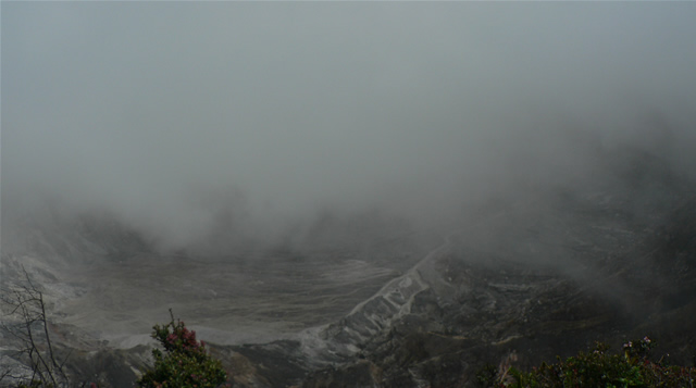 View into Poas volcano, Costa Rica