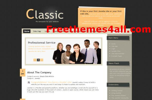 Free Joomla Business Brown Theme Template