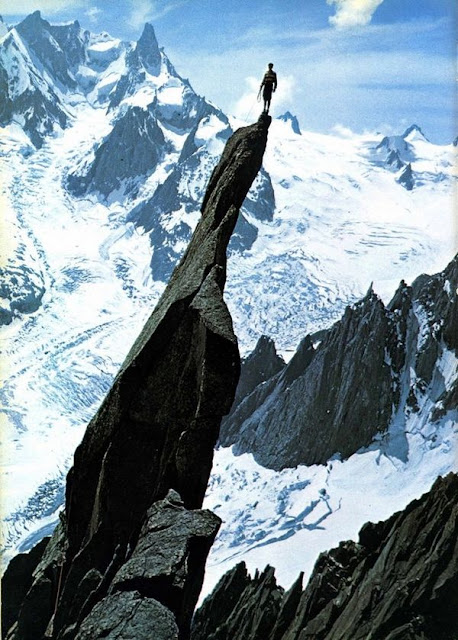 13_Vintage climbing photo taken from Gaston Rébuffat's book