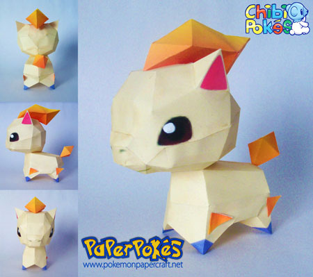 Chibi Monferno Papercraft