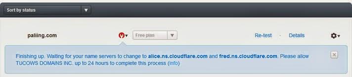 Cara pointing Custom Domain Ganti blogspot.com ke layanan cloudflare