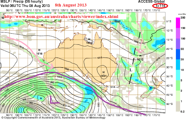 ACCESS Forecast for Australia 4th to 10th August 2013