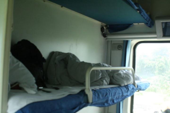 Taking the sleeper train in China