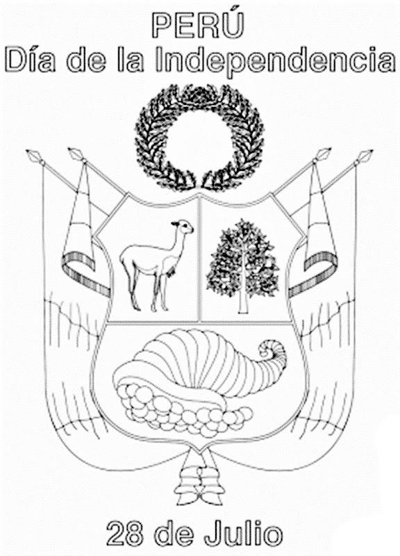 Imagenes del escudo nacional del Perú para pintar - Imagui