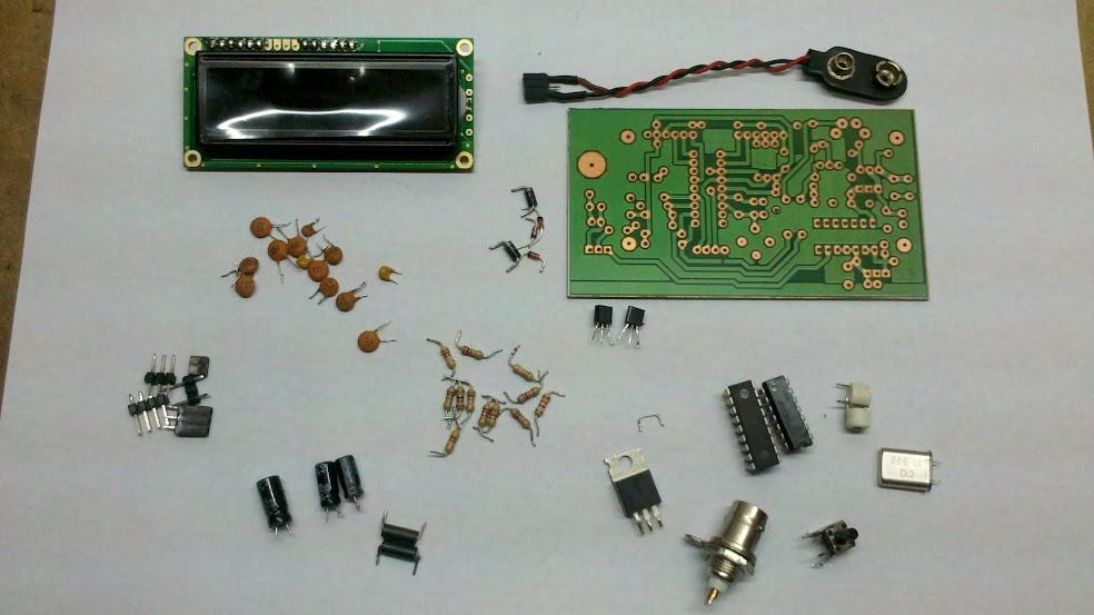 Componentes Utilizados en el Frecuencímetro