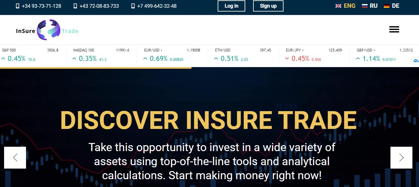 Обзор InSure Trade: условия брокера, отзывы