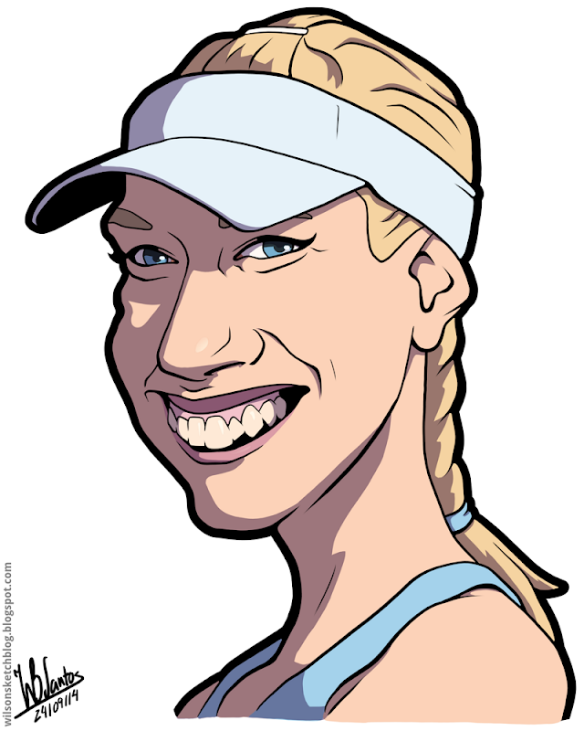 Novak Djokovic Cartoon Caricature