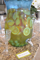 This homemade sangria is a refreshing beverage at the party.