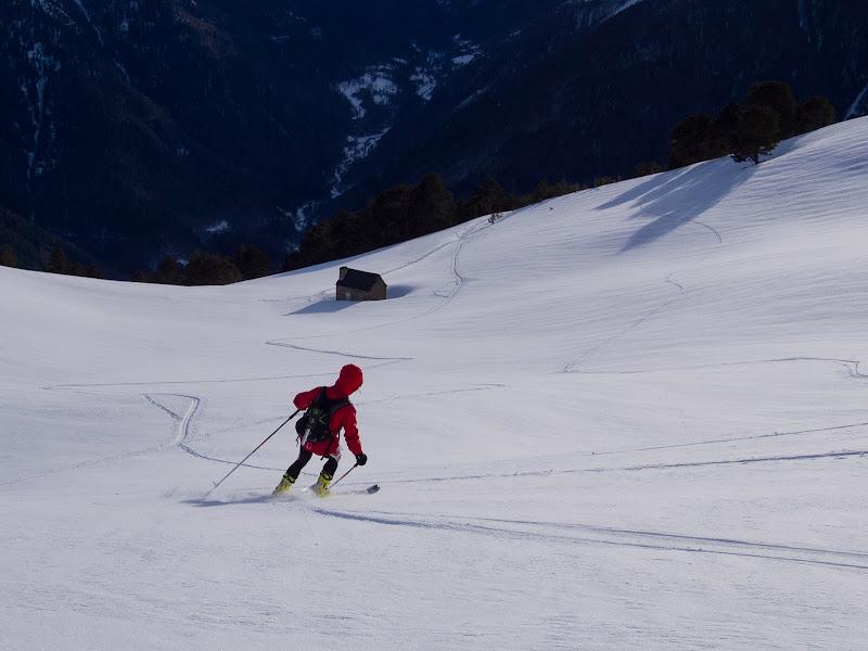 Esquiant cap a la Cabana d'Uishèra