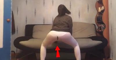 Falhanço: jovem rapariga borra as calças ao dançar o Twerk