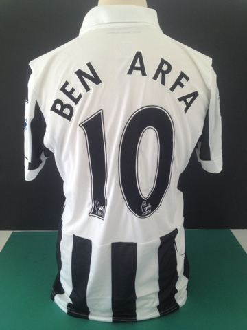 new concept 15e10 e049a Match Worn Hatem Ben Arfa Newcastle United Shirt (Unwashed ...