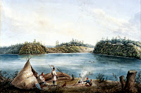 Entrance of the Rideau Canal. by Henry Pooley, 1833