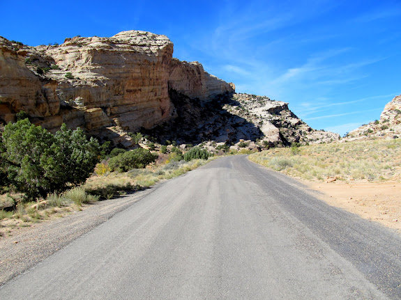 The canyon spit me out on the road just around the bend from my truck