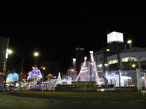 徳山駅前のイルミネーション