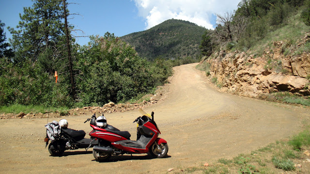 Scooters and dirt, mountain roads IMG_3380