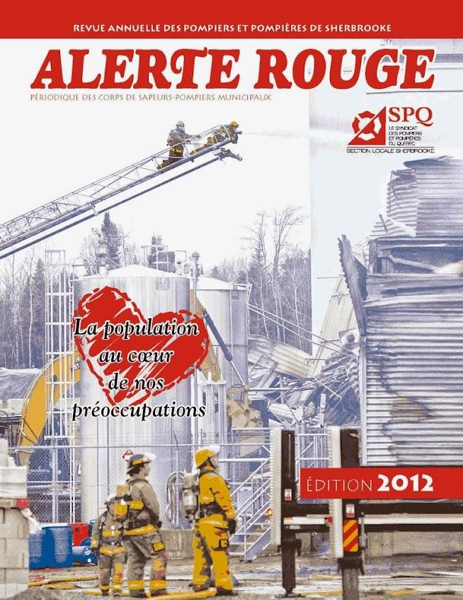 2012 Revue Alerte Rouge Pompier Sherbrooke