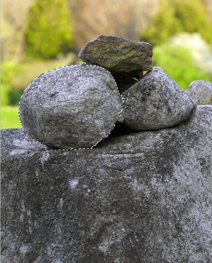 Selecione a rocha que será nosso meteoro