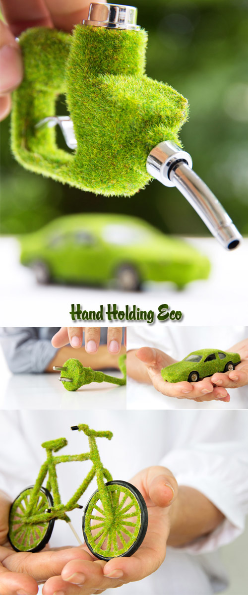 Stock Photo: Hand Holding Eco