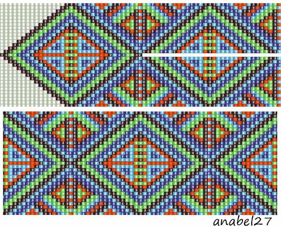 схема гердана и браслета бисероплетение loom beading pattern