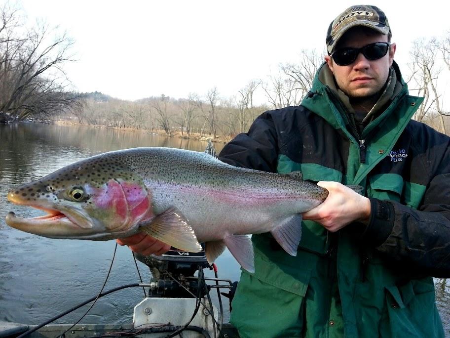 Grand River Fishing for Steelhead