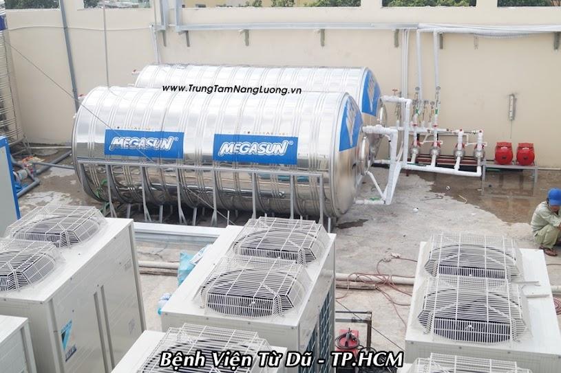 Hệ thống máy nước nóng năng lượng mặt trời tại Bệnh Viện Từ Dũ - TP. HCM