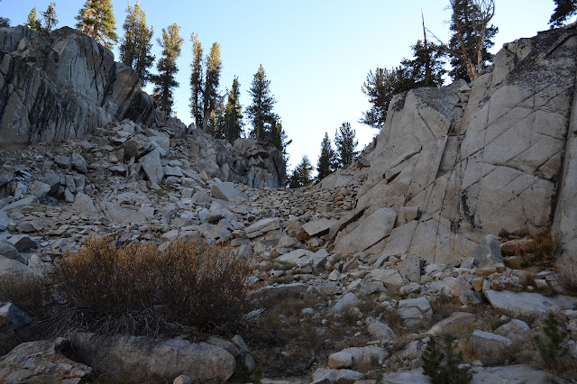 trail improvements between two boulders