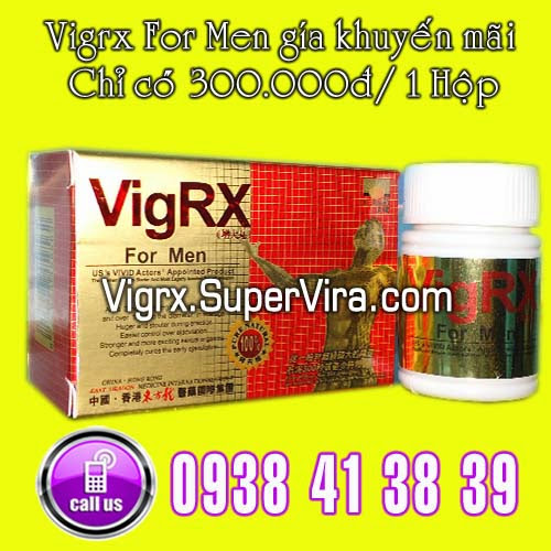 vigrx for men 300.000đ / 1 hộp