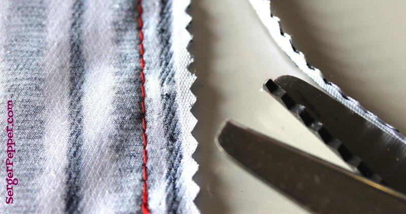 Serger Pepper - Sewing Seams 101 - pinking shears