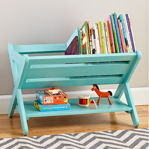 Book Case - Pinterest inspiration to make one from a wooden dish drainer