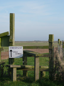Licenced footpath back to Orford