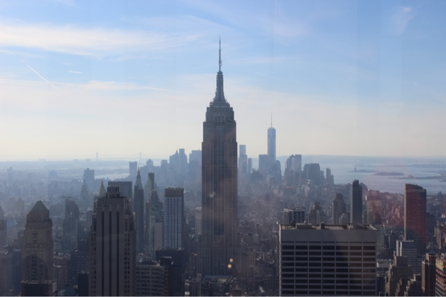 View of the Empire State Building from the Top of the Rock!