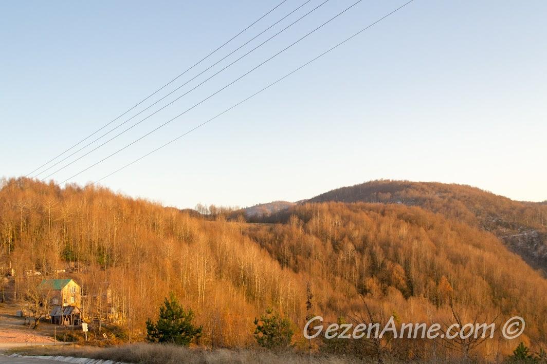 Bir kış günü Kocaeli Aytepe manzarası